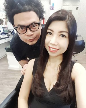 My monthly hair pampering session with @qcharlesp from #headlineshairdressing. My hair gets healthier each time I come!  Did a trim, colour and treatment to rejuvenate the look.  Thank you Charles! 😊  #influencer #celestiafaithchong #msbabelovebebes #fashionista #imagecoach #clozette #starclozetter #FBSambassador #facebodyskin #youngshineclinic #acmeclinic #acmesculpture #v10plus #headlineshairdressing #beautybynature #phyto #lashregrowth #lieracparis
