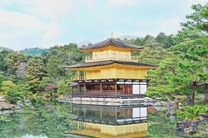 One of my favorite tourist spot at Kyoto, The Golden Pavilion. 😍💛 #clozette #IWalkinHeelsTravels