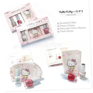 #HelloKitty by #OPI | Cherry Blossom collection 2016, Asia-exclusive.  According to @opi_products, it's the first of 2 Asia-exclusives for 2016. The next Hello Kitty by #OPI will be in time for Christmas. Not too thrilled about the colours though.  #nailpolish #polish #lacquer #sgig #igsg #igsingapore #sgignails #sgnails #bbloggers #iger #clozette #opihellokitty
