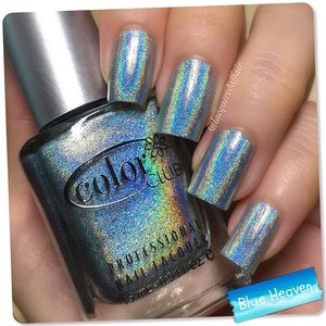 #NOTD: @colorclubnaillacquer Blue Heaven, a silver-blue #holo. Miss such in-your-face holo #polishes.  #nails #nailpolish #lacquer #polish #sgig #sgisnails #sgnails #ignails #colorclub #igsg #iger #nailstagram #nailswatch #holographic #clozetteco #clozette