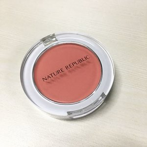 Matte peach blush #NatureRepublic #kbeauty #kmakeup #clozette #makeup #beauty #blush #blusher