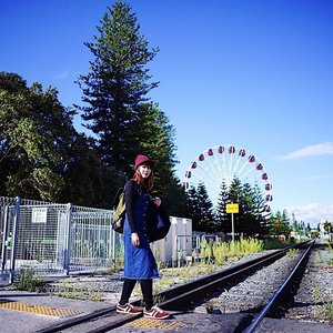 2nd photo with the wheel, 3rd one coming up hahaha! Aussie is ❤️. This shot taken before we have fish and chips with seagulls! 😂😂 📷 @simontey  #clozette #fashion #fashiondiaries #fashionblogger #lookbook #ootd #instahub #explore #outfit #girl #igdaily #igers #igsg #sgblogger #today #me #selfie #portrait #vscocam #photography #sonyimages #travel #photooftheday #clairesimontravel #claireaudreyootd #stylexstyle #perth #fremantle #me #perthisok #zeiss