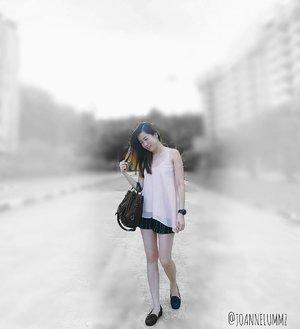 #throwback to Sunday's casual #ootd: Light Pink Keys Slant Top x Black Striped Jacquard Shorts from #bridgebyfashmob #iwearfashmob 💟 And one of my new pumps from #Taiwan! 😉 #joannelummzootd #igsg #sgig #potd #lotd #clozette #stylexstyle #latergram #getfash #repost
