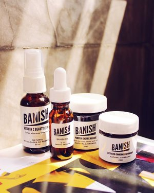 My skin is in need of some oh-so-serious pampering! I'm defenitely excited to try these all natural products from @banishacnescars #banishacnescars  Featured products: Pumpkin Enzyme Masque Activated Charcoal Clay Masque Banish oil Vitamin C Beauty Exilir  Full review soon on the blog! #clozette