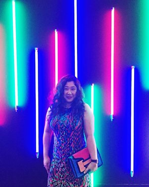 Technicolor dreamin at Star Hill Fashion Week earlier tonight! The dress code was Garden Party, so here I am in a multi colour leafy print! . . . . . . . . .  #details  #mycasualstyle #abmhappylife  #colorcolorventures #acolorstory #bagaddictsanon #nrss17 #wiw #fashionbloggers #fashiondiaries #fashionblogger #fashiongram #fashionpost #ootdwatch #lightinstallation #fashiongirl #thatsdarling #ootdshare #abmlifeiscolorful  #whatiwore #clozette  #myunicornlife  #currentlywearing #effortlessstyle #todayiwore  #flashesofdelight #pursuepretty  #ootdfash #outfitpost