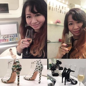 #throwback to Stuart Weitzman cocktail event on Thursday night. Check out those pretty heels customised with Swarovski crystals 👠👠 #shoes #Clozette