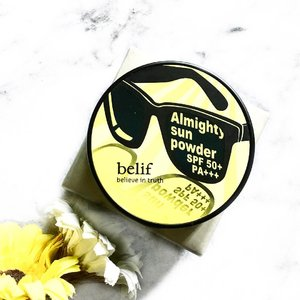 Recently I purchased a sun powder pact from belif. -- What is it: Almighty sun powder is a pressed powder sun care product made from molokhia herb that you can carry wherever you go. Strong UV protection is offered with a finishing soft touch. -- I don't really like to use my bbcushion to touch up my entire face, it's always kinda sticky and messy at the end of the day, always.  But I cannot go without SPF! So I was looking for a powder that has SPF 30-50. At first I wanted to get the Apieu one as it's only $7. However, it's in a powdered formula where it may be hard to apply evenly. The belif one is a pact version which is less messy and easier to use.  I will update again if it's worth 43 bucks soon! 💕  Also, I accidentally ate shrimps and I had way too much sugar intake on the weekends and I m having an allergy since last night. It's showing up all on my face ☹️ should I be glad they aren't pimples but jus red patches 🤔 ah 😭  #clozette