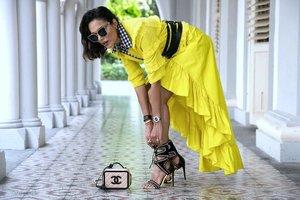 """Character. Intelligence. Strength. Style. That makes beauty."" - @dvf  Don't you agree? 📷 @chrislens3 . . . . . . . . . . . . . . .  #pinko #yellowday #stylediaries #styleguide #stylegirl #fashionist #fashionmagazine #chaneladdict #chanellover #southafricangirl #southafricanstyle #clozette #mystyle #lookbookbkk #fashionlove #fashionlook #shoelover #kurtgeiger #killerheels #shoeaddict #shoeswag #stylediaries #londonfashion #streetstyleluxe #streetstyles #invogue #stylista #stylistlife #fashioninfluencer #fashionpr @pinkoofficial @chanel_worldwide @kurtgeiger"