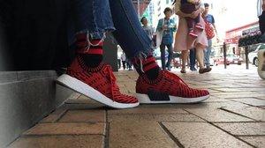 Nomad. #sotd #adidas #adidasnmd #adidasnmdr2pk #clozette #travel #hongkong #style #latergram
