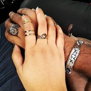 Running lots of errands today ♥ Coincidentally we were both thinking bling bling! ♥ __________  #likehusbandlikewife #husbandandwife #mixedcouple #lovehim #happytimes #instagood #instadaily #sgblogger #singapore #clozette #accessories #fashion #style #instafashion #instastyle #sgfashion #sgstyle #rings #johnhardy #silver