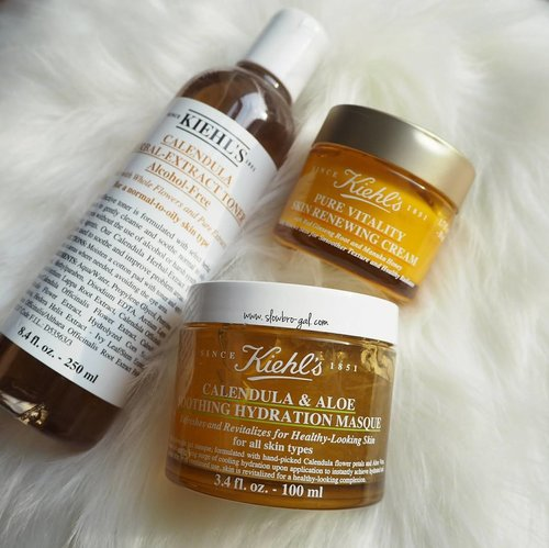 """<div class=""""photoCaption"""">Deciding on what skincare to bring for a trip is definitely not easy. 😅 Been using these 3-skincare combo from @kiehlssg and it works amazingly on my dry skin.👍👍 Packing them into a smaller jar that could last me a week to combat the dry/winter weather. 😍😍 Have you tried these 3? If not, I definitely recommending them to you. 💖💖 #clozette</div>"""