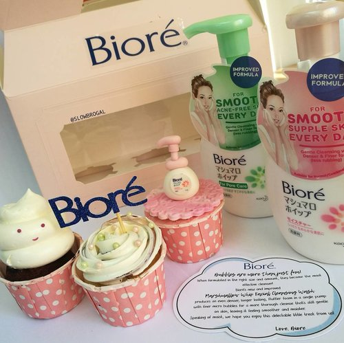 """<div class=""""photoCaption"""">Bubbles are more than just fun! 😍😍 Thank you @Bioresg for sending these cute little cupcakes together with the new improved formula of Biore Marshmallow Whip Facial Cleasing Wash.❤❤ Happy Tuesday everyone! 😘✨ #clozette #Bioresg</div>"""