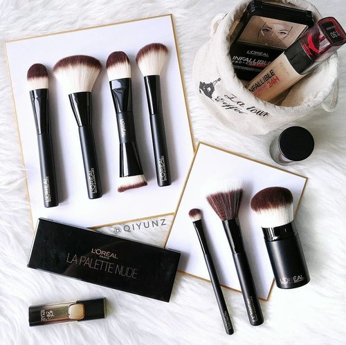 """<div class=""""photoCaption"""">The launch from #LOREALSG that I'm most excited about #NewIn ! So glad to see drugstores finally getting on the professional brushes game.  These babies are soft and probably some of the better drugstore brushes you can find! Planning my first makeup vlog with these brushes, keep a lookout!  #clozette</div>"""