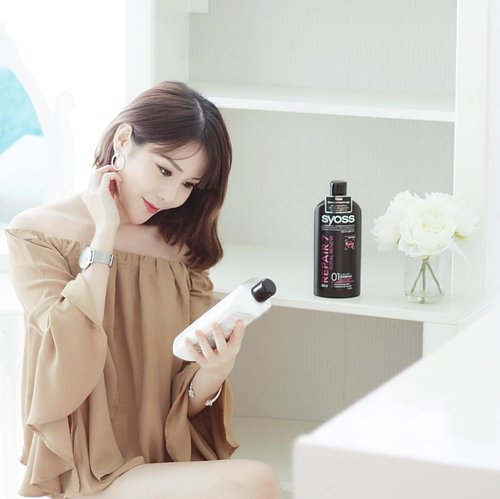 """<div class=""""photoCaption"""">After trying many others, this is still one of my favourite brand, @SYOSS! With 40 Years of Asian Salon Expertise & specially designed for Asian Hair, we can now all achieve professional performance & and salon beautiful hair everyday at home!🙆🏻 You can find these babies - the REPAIR 7 Total Renew (for 7-fold repair for damaged/eroded hair!) at all Guardian & Watsons stores and don't forget to follow @SGSYOSS on #instagram & #facebook for more Asian Hair Trends😉 . HAPPY TGIF ALL!💋 #syosssg #syoss</div>"""