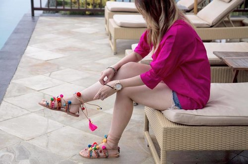 """<div class=""""photoCaption"""">The truth: these sandals need constant attention</div>"""