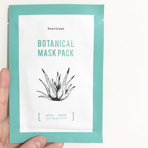 "<div class=""photoCaption"">🦁🦁🦁 Did you know that the material of the sheet masks of the Botanical Mask Pack line is made of 100% biodegradable botanical fiber of the respective main ingredient. Like the 【Bonvivant Botanical Mask Pack - Aloe】im wearing now, the mask is made from Aloe fiber hence the non-white color. --------------------------------- What it is: A soothing & hydrating sheet mask with 89.35% Aloe Vera Leaf Water, Trehalose, Sodium Hyaluronate, Japanese White Birch, Allantoin and Panthenol as its mainstay ingredients. This mask and its other variants boasts a whopping 93% naturally derived ingredients, making it rather suitable for everyone. --------------------------------- This mask doesn't have much scent to it which is always good. Although having a bunch of really promising water-boosting and healing ingredients, this mask just did okay for hydration for me. I could not observe much soothing effect seeing that the redness on my face was still very much glaring. But, I have faith in this brand so I am going to re-examine my skin and its condition tomorrow. I will be seeing if the skin look well-rested, and if it feels soft and supple enough for makeup to go on nicely.</div>"