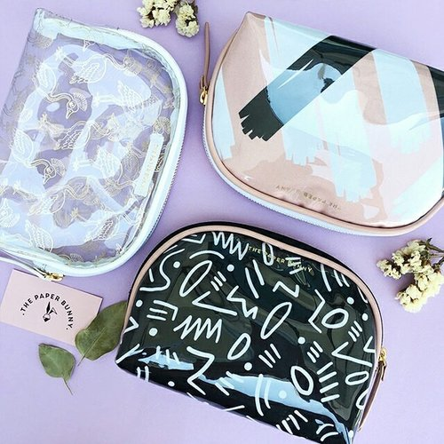 "<div class=""photoCaption"">Here's three more pouches – and totes – to add to your multi-purpose bag arsenal. These delightfully printed bags from @thepaperbunny are roomy enough to store all your important knick-knacks, small or big, while you're on the go! #Clozette #ThePaperBunny</div>"