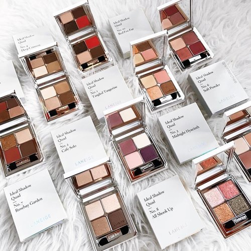 """<div class=""""photoCaption"""">Transported to eyeshadow heaven all thanks to @laneigesg 💙 Find out how you can win all these in my previous #laneigesg post! Happy Sunday! #laneige #kbeauty #clozette</div>"""