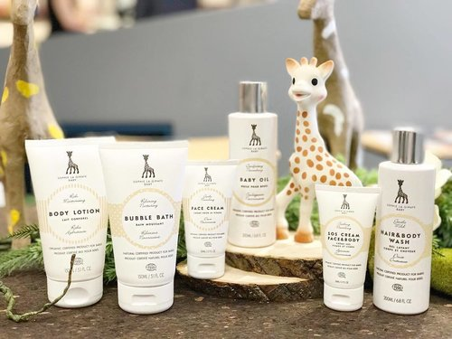 """<div class=""""photoCaption"""">#SophieLaGiraffe has stood for safety and reliability for over 5 decades. Officially launched @Escentials , you can now care for your child's skin with the award-winning, certified natural and organic skincare. . #SophieLaGiraffeBaby products contain ingredients of the highest quality sourced from around the world, suitable for babies with sensitive skin. All products have been subjected to dermatological testing to guarantee high quality, safe and ecological natural skincare for our children. . Provide your child with the best care possible. ❤️👶🏻 #escentialssg #mercurysocial #sophielagiraffebaby</div>"""