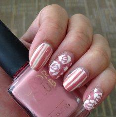 Spring Nail Art Inspiration: Pink Pastel Rose