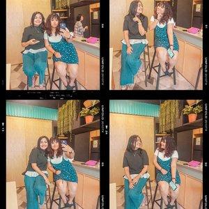 #ASimpleAct ala aku dan @budiartiannisa adalah nyempetin ketemuan disela- sela kesibukan demi #PertemananJulid kita. Aku sibuk dikantor, icha sibuk jadi artis buat beli lipen dan foundation terbaru 😜. Selain itu kita berdua juga hobi #selfie dan #ootd demi foto IG yang ciamik 😄. Semoga kita semakin sukses buat bisa beli foundation dan tas kremes yaa 😘🤣. @bioderma_indonesia #BiodermaIndonesia #ASimpleAct.@kaniasafitrii @budiartiannisa yuk ikutan jugaa 😆#ootdindo #outfitoftheday #lookoftheday #fashion #fashiongram  #clothes #wiw  #instafashion #outfitpost #ootdfashion  #ootd #todaysoutfit #fashiondiaries #clozetteid
