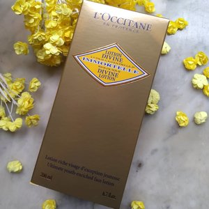 Protect your skin now!! . . #clozetteid #loccitaneindonesia #loopsquad2018 #paris #france #beauty #immortale #divinelotion #facelotion #youth #tapforlike #likeforlike #tapforfollow #followforfollow #cchannelbeautyid #cchanel_id #lation #yellow #color #bequty #blogger #indonesia