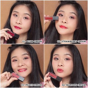[REVIEW]  @altheakorea Watercolor Cream Tint  Salah satu makeup line yang di rilis oleh althea adalah Watercolor Cream Tint yang hadir dengan 4 warna:  1. Plum Cream: rich color, luxurious plum shade, cocok untuk night occasion, glam and elegant look.  2. Strawberry Cream: juicy red shade untuk look fresh dan bright. 3. Peach Cream: fresh coral with pink undertones. Cocok segala jenis tone kulit. Natural and feminim look.  4. Maroon Cream: browns and pinks mix untuk tampilan chic. Cocok untuk everyday look.  Tekstur dari tint ini adalah gel, gampang di swatch, blendable, juicy glossy color.  Moisture lips dan tidak bikin bibir kering. Highly pigmented, dan cuma sedikit ada ( 2 dot ) bisa untuk seluruh bibir. Bisa untuk gradation lips. Tahan lama, biarpun dipake makan minum tetep stain seharian warnanya.  Price : 71.000 (4,5ml)  More review tentang produk althea makeup bisa check di youtube aku. Link on my bio.  Langsung aja check ke website/ app althea untuk ordernya 👄  #reviewtint #review #altheakorea #watercolorcreamtint #reviewmakeupalthea # creamtint #clozetteid #althea #makeup #altheaxclozetteidreview #beauty #tint #altheaxclozette #clozetteidreview #altheareview #clozettereview @clozetteid