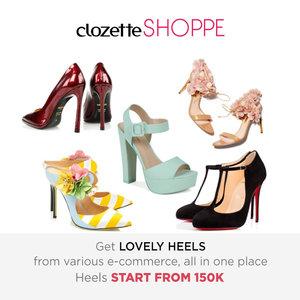 High heels selalu jadi fashion essentials yang wajib dimiliki wanita untuk tampil anggun dan modis. Belanja heels favorit dari berbagai ecommerce site MULAI 150K via #ClozetteSHOPPE!  http://bit.ly/prettyheels