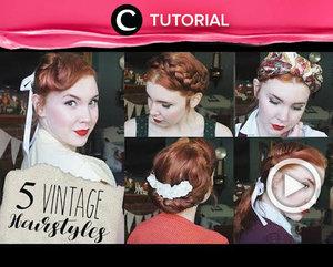 Penggemar gaya vintage mana suaranya? Style-mu belum maksimal tanpa rambut model jadul seperti ini, Clozetters. Lihat tutorialnya di: http://bit.ly/2RGqKIN . Video ini di-share kembali oleh Clozetter @juliahadi. Lihat juga video tutorial lainnya di Tutorial Section.