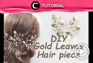 Hair piece seperti ini bisa kamu buat di rumah, lho. Penasaran bagaimana caranya? Yuk, lihat di http://bit.ly/2FPBnmU. Video ini di-share kembali oleh Clozetter @Salsawibowo. LIhat juga tutorial lainnya di Tutorial Section.