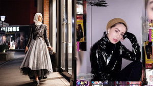 3 Different Ways Hijabis Can Wear Leather with Their Outfits