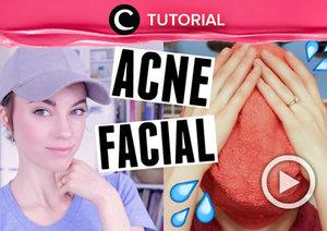 Ingin tahu cara acne facial sendiri di rumah? Yuk, lihat tutorial berikut: http://bit.ly/2Gu80WV. Video ini di-share kembali oleh Clozetter @zahirazahra. Lihat juga tutorial lainnya di Tutorial Section.