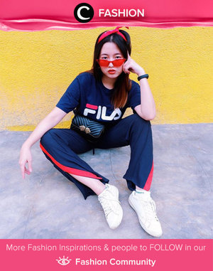 Always feel more comfortable in sporty style, and couldn't complete the look without FILA shirt. Simak Fashion Update ala clozetters lainnya hari ini di Fashion Community. Image shared by Clozetter: @veronycasufry. Yuk, share outfit favorit kamu bersama Clozette.