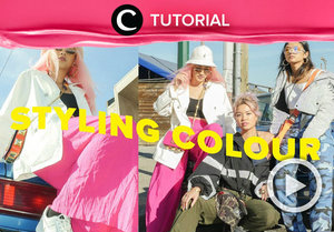 Style your bold-colored outfits in a creative way! Check the styling tutorial here: http://bit.ly/2TCR4RX . Video ini di-share kembali oleh Clozetter @Kamiliasari. Intip tutorial lainnya di Tutorial Section.