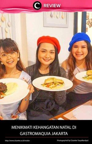Hari Natal tinggal hitungan minggu, nih, Clozetters. Sudah menentukan restoran untuk Christmas Dinner? Kalau belum, Gastromaquia Jakarta bisa menjadi pilihanmu. Selain ambience yang hangat, restoran Spanyol ini juga menyediakan menu khusus Christmas. Yuk, intip ulasannya di : http://bit.ly/2BUvBNP