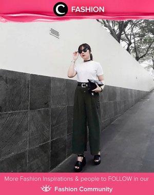 Steal Clozetter @michellageorgia style on rockin' black-white outfit. Wear your statement belt, black choker and of course, sunnies! Simak Fashion Update ala clozetters lainnya hari ini di Fashion Community. Yuk, share outfit favorit kamu bersama Clozette.