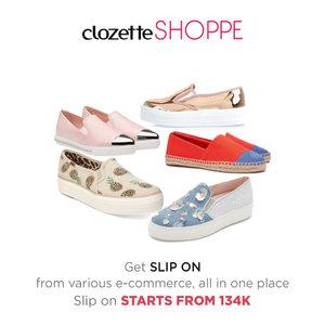Slip on masih jadi sepatu yang diminati fashion people karena modis dan simpel. Model slip on pun kini makin beragam, slip on platform misalnya. Belanja slip on dari berbagai e-commerce site MULAI 134K di #ClozetteSHOPPE! http://bit.ly/1W2cyUI