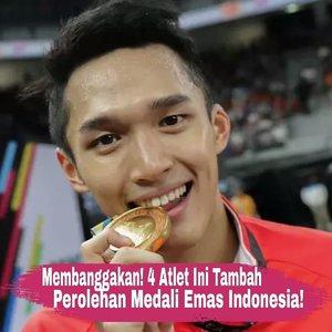"4 atlet Indonesia kembali torehkan prestasi dengan meraih medali emas pada ajang Asian Games 2018.Medali pertama dipersembahkan dari cabang eSports, pertandingn game ""Clash Royale"" oleh Ridel Sumarandak. Berhasil mengalahkan Tiongkok, ini merupakan medali emas pertama Indonesia di cabang eSports.Emas berikutnya diraih oleh atlet badminton tungal putra, Jonatan Christie. Jojo menaklukan wakil asal Taiwan pada pertandingan ketat 3 set di final. Medali ini juga merupakan emas pertama Indonesia setelah terakhir kali diperoleh Taufik Hidayat pada Asian Games 2006.Turut menyumbang emas ke 24 untuk Indonesia, pasangan ganda putra Kevin-Marcus alias The Minions berhasil mengalahkan wakil Indonesia lainnya yaitu Fajar-Rian yang mendapatkan medali perak.Ayo dukung terus atlet Indonesia di Asian Games 2018! 📷: ditjenpajakri, liputan6.com, Ivoox.id#ClozetteID"