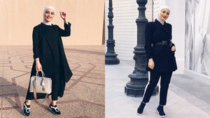 Dalalid Shows Hijabis How to Easily Rock an All Black Outfit