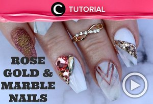 Penampilan sudah elegan tapi kukumu kurang cantik? Simak tutorial Rose Gold & Marble Nails di : http://bit.ly/2AG1fOq . Video ini di-share kembali oleh Clozetter @dintjess. Cek Tutorial Updates lainnya pada Tutorial Section.