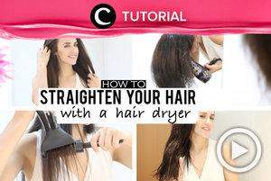 Setuju nggak kalau meluruskan rambut dengan hairdryer akan membuat rambutmu terlihat lebih natural? Yuk, intip caranya di: http://bit.ly/2DnrM31 . Video ini di-share kembali oleh Clozetter @saniaalatas. Jangan lupa cek juga tutorial lainnya di Tutorial Section.
