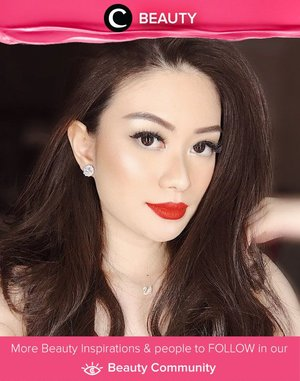Want to look glam in a minute? Put your classic red lipstick. Simak Beauty Updates ala clozetters lainnya hari ini di Beauty Community. Image shared by Clozetter @abnergailorraine. Yuk, share juga beauty product favoritmu.