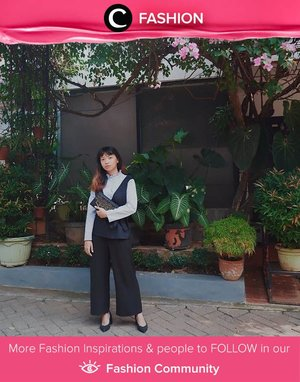Pair your vest with culottes and you're ready to go! Simak Fashion Update ala clozetters lainnya hari ini di Fashion Community. Image shared by Clozetter: @ArindaPS. Yuk, share outfit favorit kamu bersama Clozette.