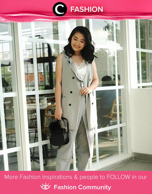 We know it's not so fun to be back at work after a long holiday. But hey, don't let it ruin your productivity! Lift up your mood with stylish outfit like the one Clozette Ambassador @Katherin was wearing.  Simak Fashion Update ala clozetters lainnya hari ini di Fashion Community. Yuk, share outfit favorit kamu bersama Clozette.