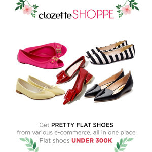 Flatshoes nyaman, simpel, modis dan cocok digunakan untuk berbagai suasana. Casual maupun formal, Clozetters. Shop pretty flatshoes under 300K from various ecommerce only at #ClozetteSHOPPE!  http://bit.ly/shopprettyflatshoes