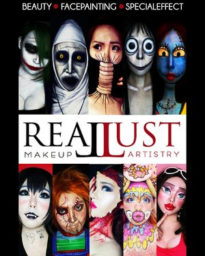 Hello Art & Beauty Enthusiast! REALLUST MAKEUP ARTISTRY will have a special workshop and exhibition at Pakuwon Mall Surabaya (Little Tokyo 2M Floor - Main Stage) on this Saturday (December,  8th 2018).Theme : Self Makeup - Turn Yourself Into Various Character. ..You can try to put on makeup by yourself and ask me anything about Art & Beauty. How to put on makeup, Tips & Trick,  Japanese Beauty,  Face Painting, Illusions Makeup,  Special Effect Makeup,  and everything.  Don't hesitate to ask me because Art has no boundaries. ..Limited seats - Only 15 seats/session.Stay tuned for more information............#Beauty #beautystagram #fashion #style #sfxmakeup #artist #art #beautyinbeingunique #facepainting#specialeffectmakeup  #モデル #メイク #ヘアアレンジ #オシャレ #メイク #かわいい #instastyle #girl #beauty #kawaii #コーディネート #ファッション #コーディ #ガール #clozetteID #specialeffect #SFXartist #makeupillusions