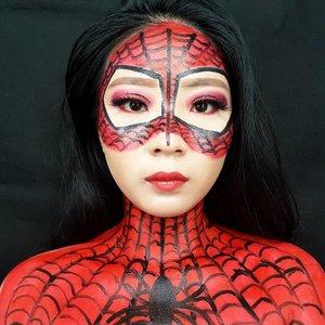 Inspired by Some girls on Pinterest LoL . Kok ngerasa ni pose foto kaya pas foto KTP yak 😂😂😂 . Deets soon ❤ . . . . . #luellablog #luellamakeup #marvelmakeup #glamesha #spidermanmakeup #superheromakeup #tampilcantik #indobeautygram #bvloggerid #beautiesquad #clozetteid #clozzetebeauty #bloggerindonesia #bloggerindo #beautilosophy  #indobeautysquad #beautygoersid  #beautybloggerindonesia #bvloggerid #beautybloggerbandung #setterspace #bloggerbandung #muabandung #muatribeid #muaindonesia #bloggermafia #bunnyneedsmakeup #kbbvfeatured