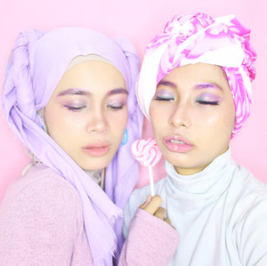 Morning Candy Morning 💕 . . . #clozetteid #beautygoers #makeup #unicorn #beautyvlogger #beautybloggerindonesia #beautyvloggerindonesia #hijabfashion #hijabers #pink #pinky