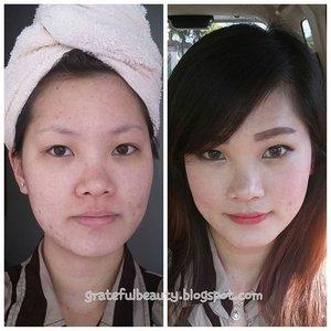 Keisengan hari ini bikin before after makeup 😄 #fotd #makeuptoday #blogger #beautyblogger #simplemakeup #freshlips #instatoday #clozetteid