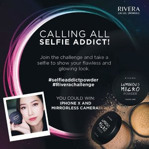 Massive #GIVEAWAY by Rivera!.Expressing yourself through make up can be so much fun! Don't forget to show and share your look to us through our Selfie Challenge.Three winners with the best selfie will win ***iPhone X, mirrorless camera, and 10 Rivera Cosmetic hampers*** How to enter:1.	Follow @Riveracosmetics on Instagram.2.	Post your selfie photo on your Instagram account.3.	In the caption, describe how far can you go to express yourself to get your look for your selfie photo. Don't forget to include #selfieaddictpowder and #Riverachallenge, and mention @Riveracosmetics.4.	Mention at least 3 of your friends and ask them to join the fun.Entry will close at 28 September 2018 at 11:59pm. The winner will be announced on 5 October 2018. Terms & Conditions apply: bit.ly/RiveraSelfieChallenge...KKXX Stylenanda Black Earrings from @selcouth.plus#clozetteid